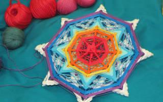 Мандала своими руками из ниток: основы плетения и советы новичкам