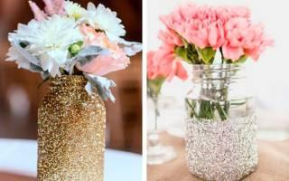 Как сделать изящную вазу из банки своими руками?
