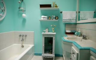 Как покрасить ванную комнату своими руками: 5 секретов (40 фото)