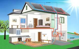 Схема отопления двухэтажного дома. чертеж