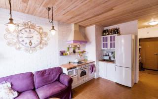 Дизайн интерьера однокомнатной квартиры хрущевки. зонирование квартиры. фото интерьера