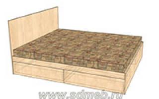 Кровать двуспальная с выдвижными ящиками своими руками: пошаговая инструкция