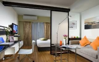 Разделение спальни гостиной 17 кв м