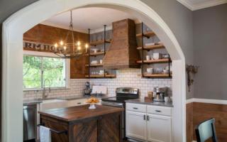 Арка из гипсокартона между кухней и гостиной