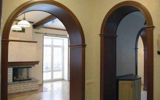 Межкомнатная арка: тип, форма, материал изготовления