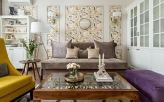 Советы и рекомендации по дизайну гостиной комбинированными обоями