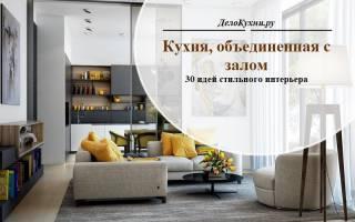 Зал и кухня вместе в дизайне интерьера дома