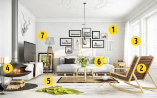 Красивая гостиная комната с налетом винтажности (дизайнер isabel flores)