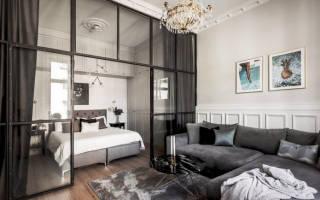Дизайн гостиной и спальни в одной комнате: правильное зонирование