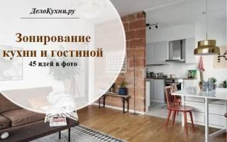 Как правильно отделить кухню от гостиной?