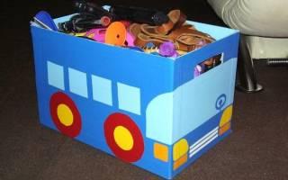 Как сделать ящик для игрушек своими руками: несколько подробных мастер-классов (+видео и фото)