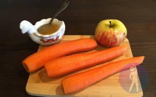 Вкусный салат из зеленого яблока и моркови