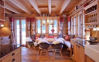 Интерьер в стиле шале – альпийская романтика в доме и квартире