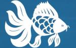 Шаблон рыбка золотая — аппликация из цветной бумаги (мастер-класс)