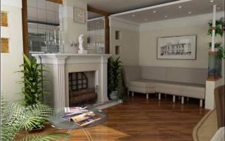 Преимущества интерьера гостиной с камином