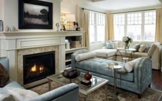 Варианты дизайна гостиной с камином