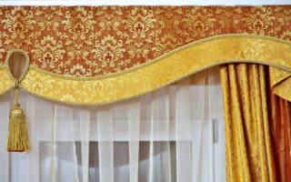 Как сшить жесткий ламбрекен бандо с подкладкой и без нее