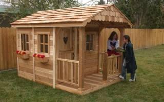 Как построить детский деревянный домик своими руками