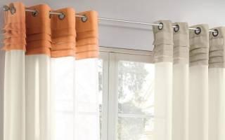 Шторы на люверсах в гостиную: особенности и пошив своими руками