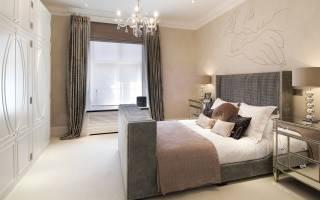 Бежевая спальня — фото дизайна